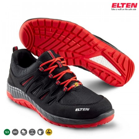 Elten Maddox Black-Red Low (729561)