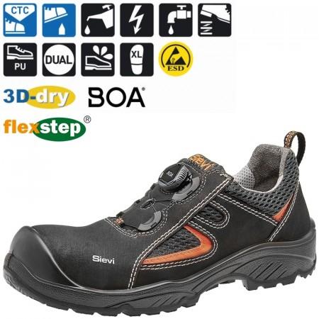 PLANAR 3 S3 SIZE=43 ESD sko Størrelse=43 Svart Par Sievi